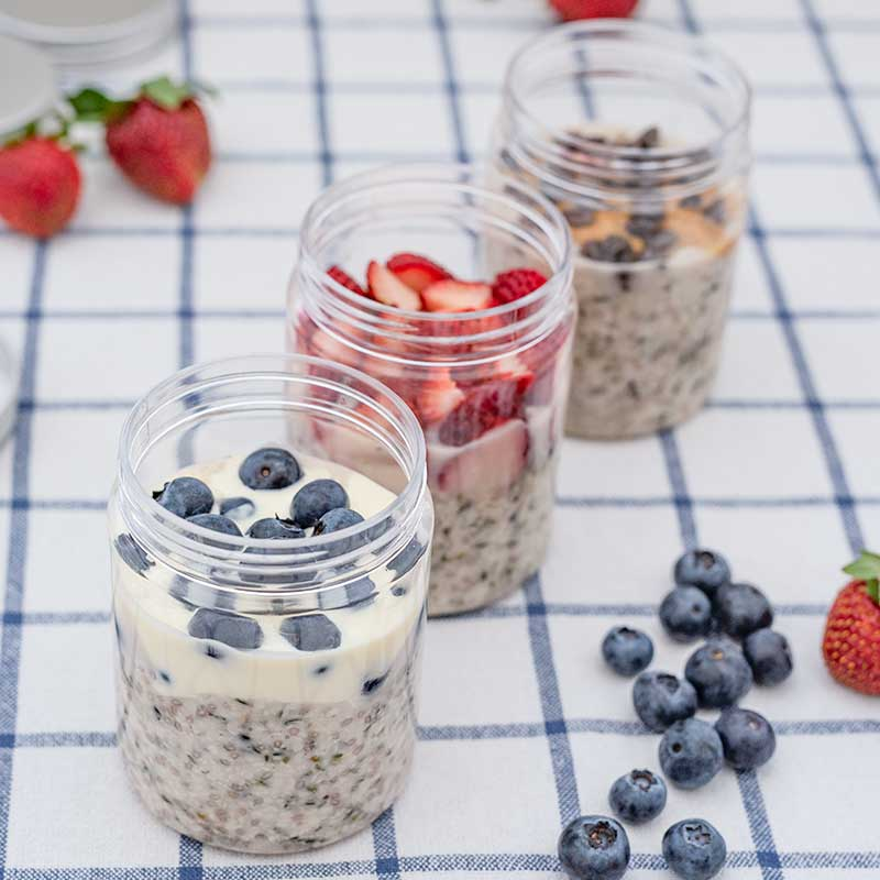 Keto Overnight Oats - easy breakfast recipe