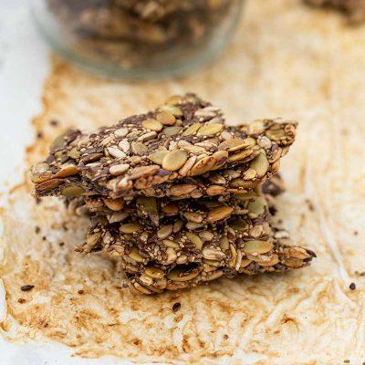 Keto Seeded Cracker Biscuits – Easy Vegan Nut-Free Recipe