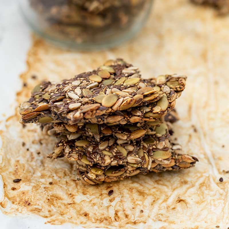 Keto Seeded Crackers - easy recipe