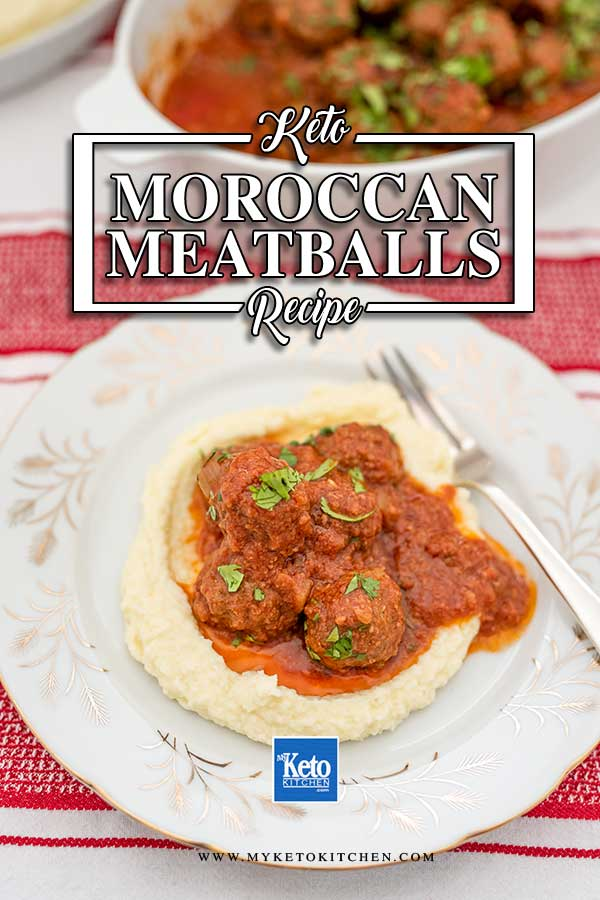 Low Carb Moroccan Meatballs - easy keto slow cooker recipe