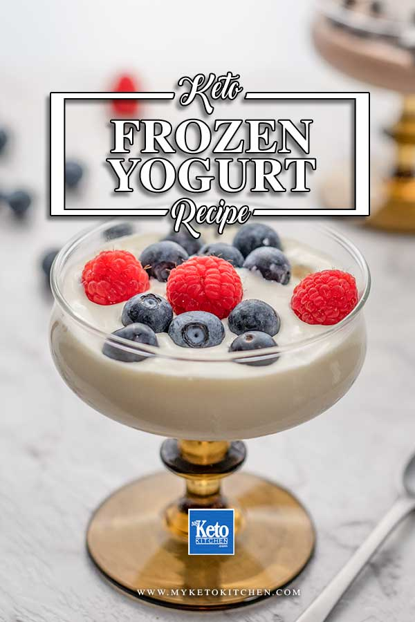 Low Carb Vanilla Frozen Yogurt. This easy recipe is sugar-free dessert or snack! It's healthy, low carb and super easy to make with no cooking required. Whip it up today!