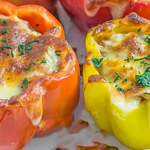 keto stuffed peppers with ground beef