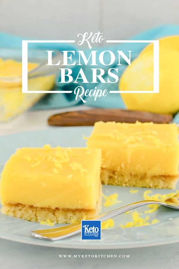 Keto Lemon Bars on a plate
