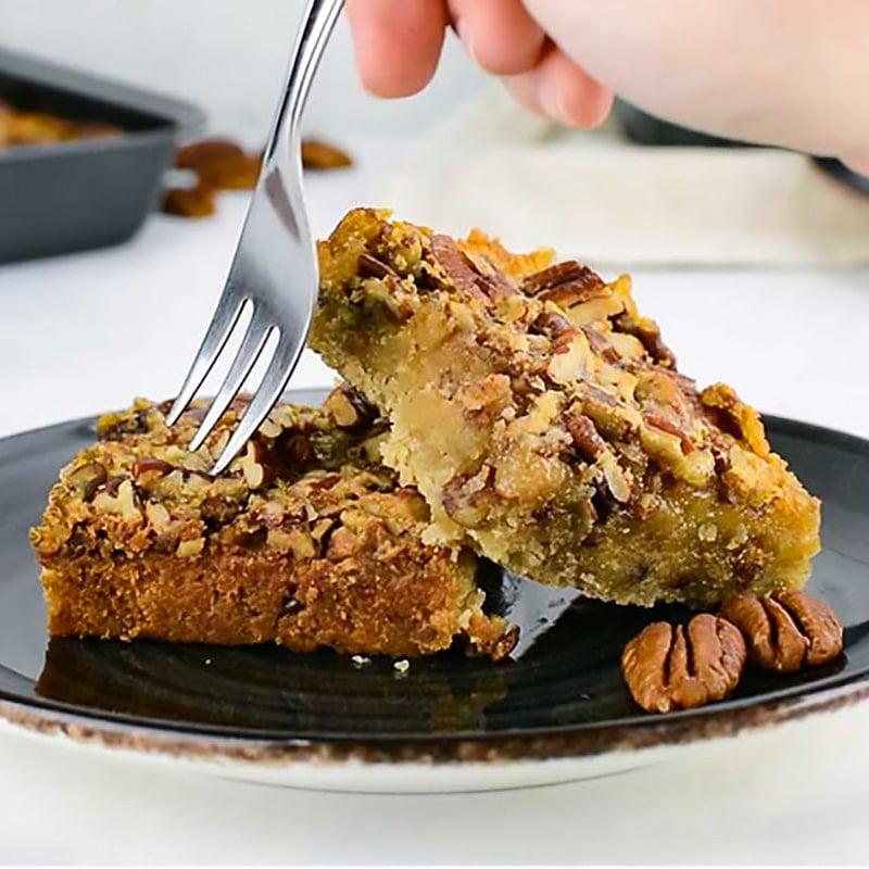 Keto Pecan Slice Recipe Easy to Make Nut Bars