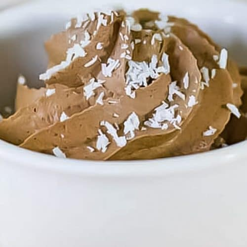Easy Keto chocolate mousse