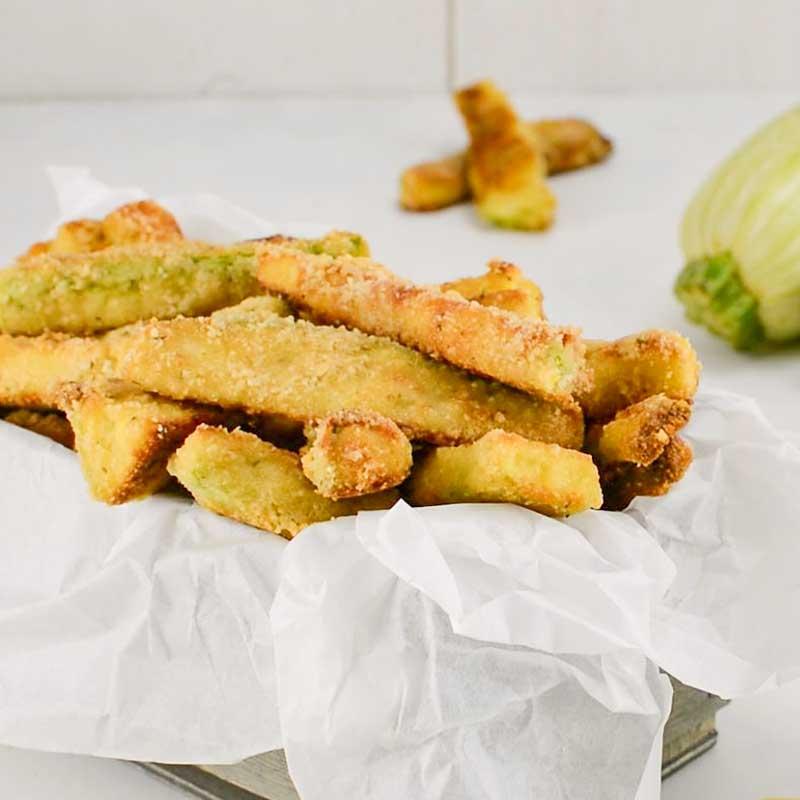 Keto Zucchini Fries in a dish