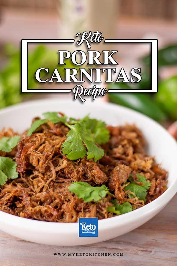 Low Carb Pork Carnitas in a bowl