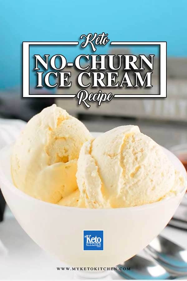 No Churn Keto Vanilla Ice Cream in a bowl