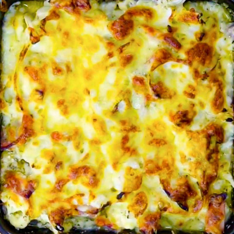 Keto Cauliflower Cheese Bake
