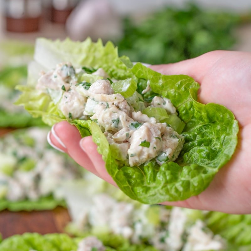 Keto Chicken Salad Wraps