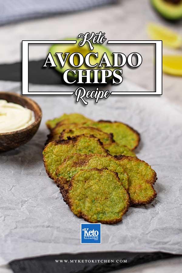 Keto Avocado Chips on a platter