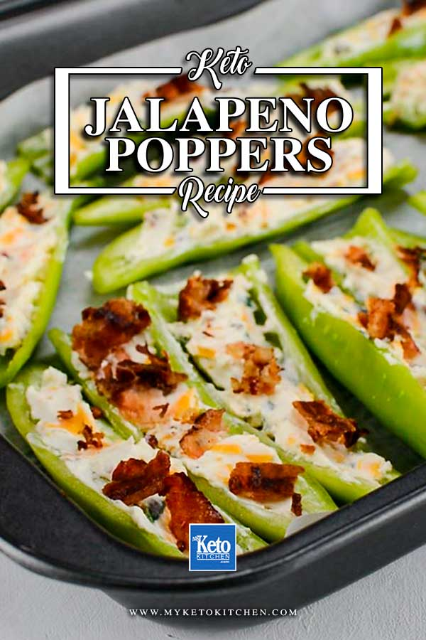 Keto Jalapeno Poppers in a baking tray