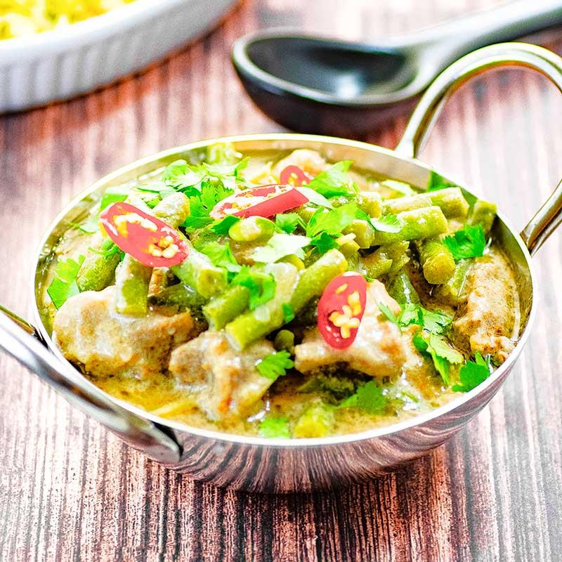 Keto pork curry Thai style
