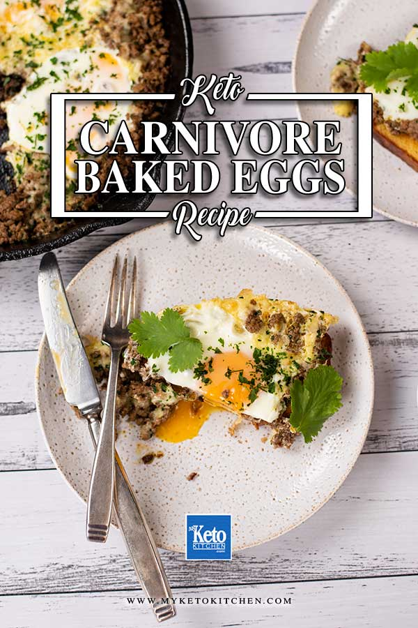 Carnivore Baked Eggs on a slice of Keto Bread
