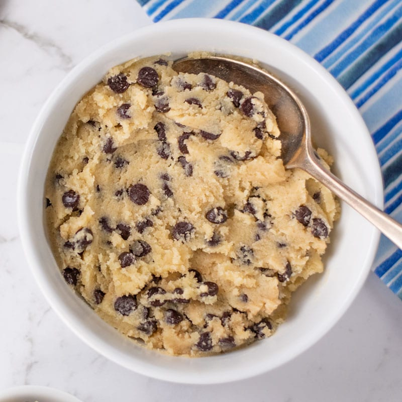 Keto Cookie Dough in a bowl