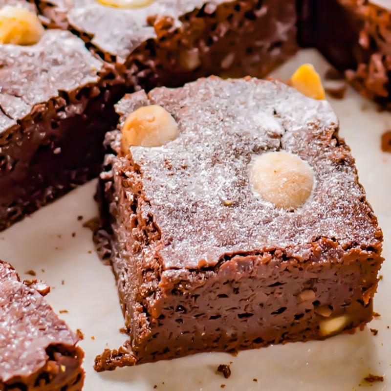 Keto Brownies Recipe Chocolate Macadamia Nut