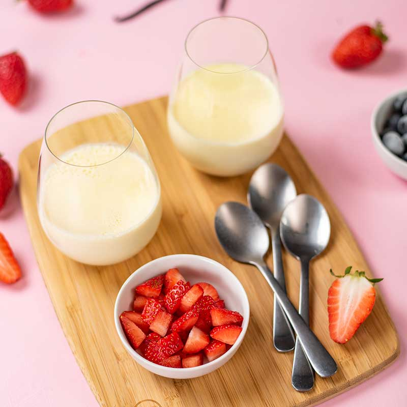 Keto Vanilla Panna Cotta Ingredients