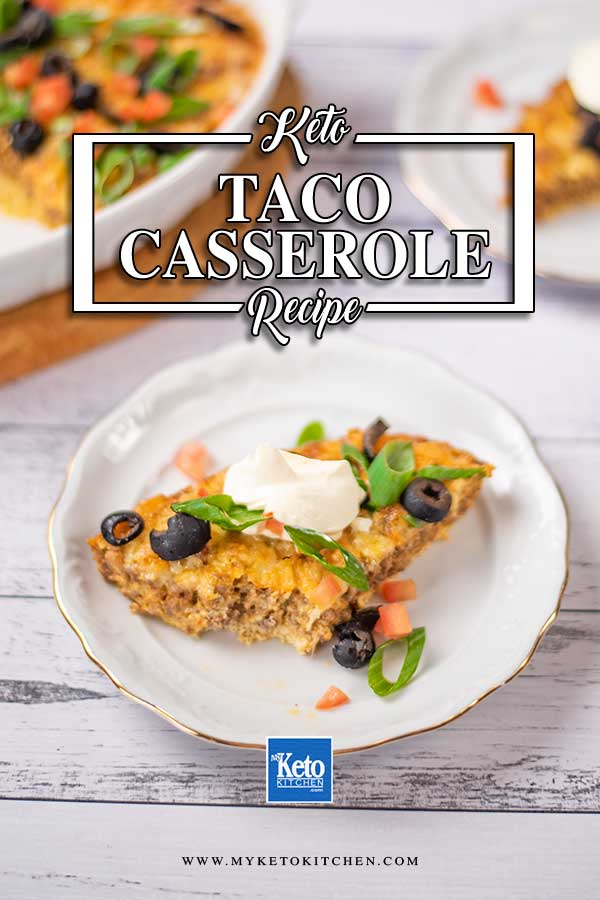 Low Carb Taco Casserole on a plate