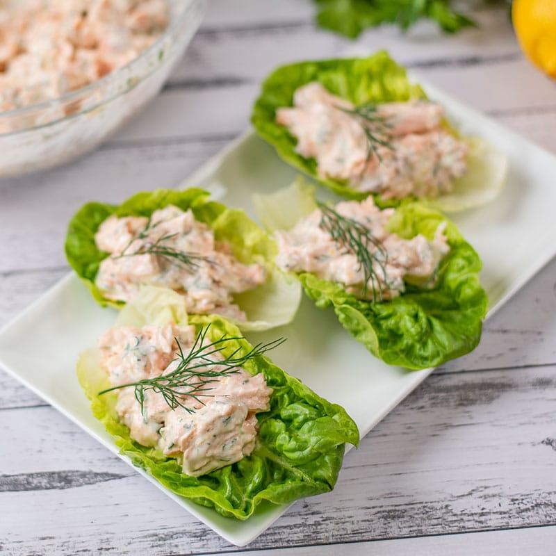 5. Keto Salmon Salad Wraps
