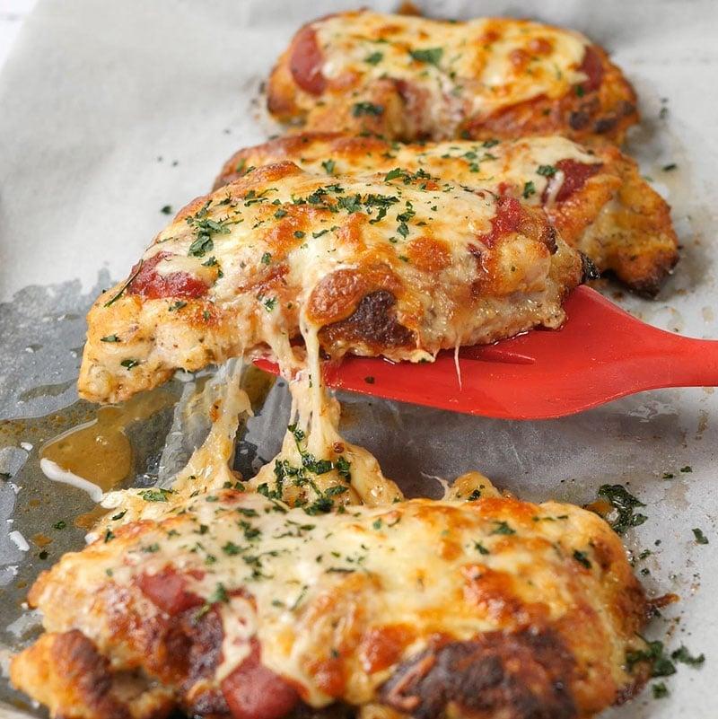 Keto Chicken Parmigiana - Cheesy Breaded Chicken Recipe
