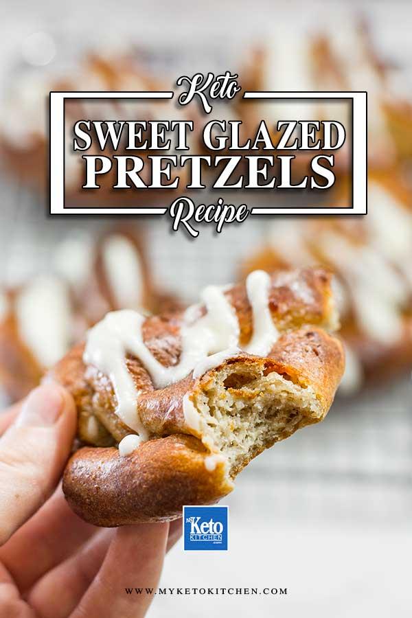 Keto Sweet Glazed Pretzels