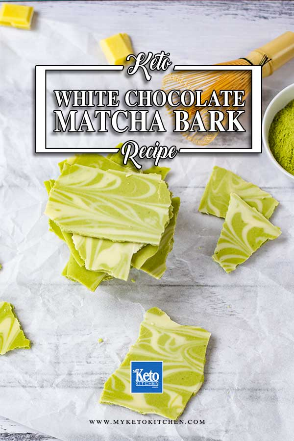 Sugar-Free White Chocolate Matcha Bark