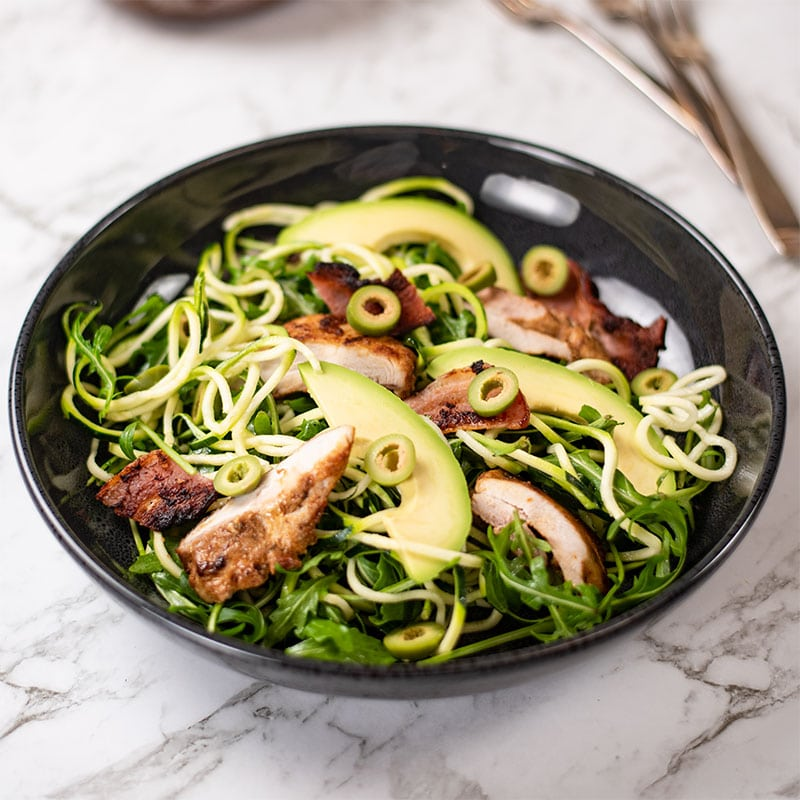 Keto Chicken Zoodles Salad