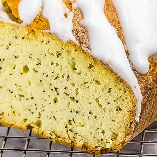 lemon poppy bread loaf