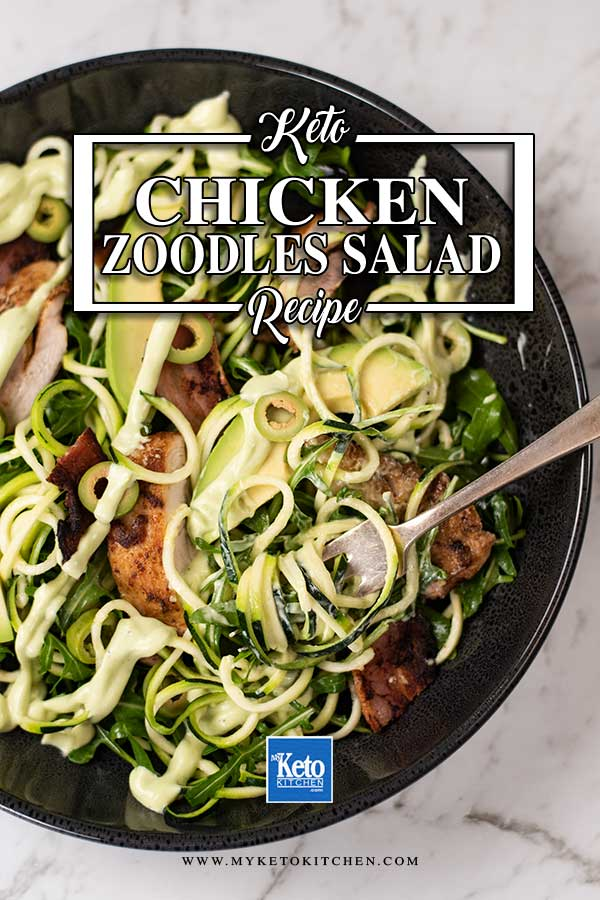 Low Carb Chicken Zoodles Salad
