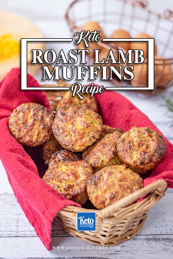 Low Carb Roast Lamb Muffins in a basket