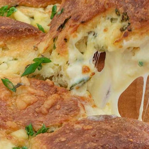 Keto Pull Apart Bread Garlic Cheese