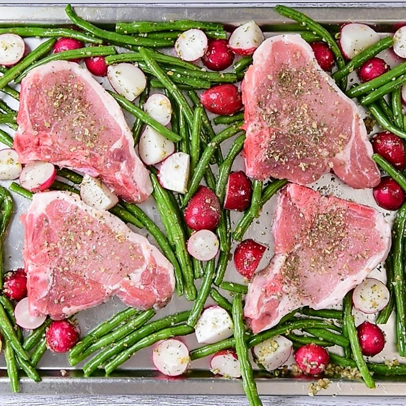 Keto Sheet Pan Ranch Pork Chops Ingredients