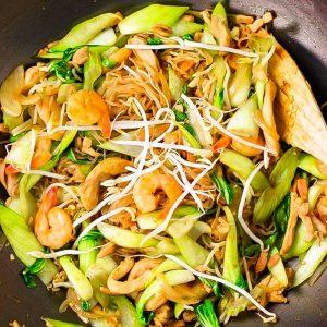 Keto Noodles Singapore Style Stir Fry