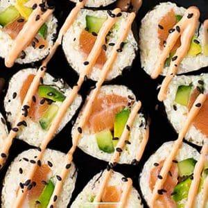 Keto Sushi Rolls Ready to Eat
