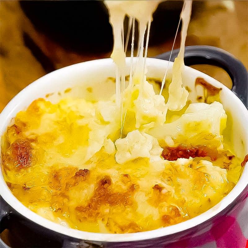 Keto Mac n Cheese in a bowl