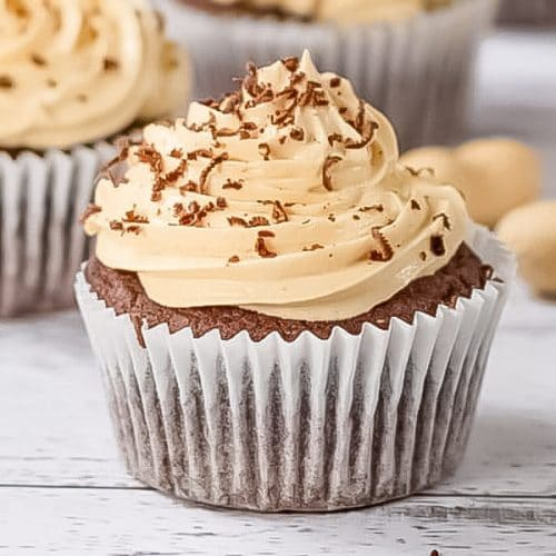 choc peanut butter keto cupcakes
