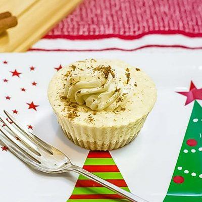 Keto Eggnog Cheesecakes for Christmas