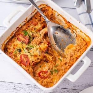 Keto Vegetarian Casserole in a casserole dish.