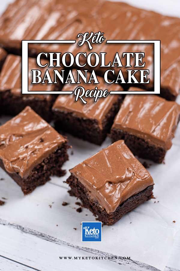 Keto Chocolate Banana Cake slices.