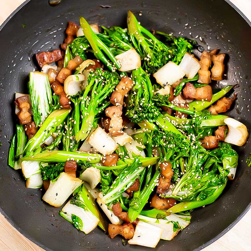 Pork belly stir fry