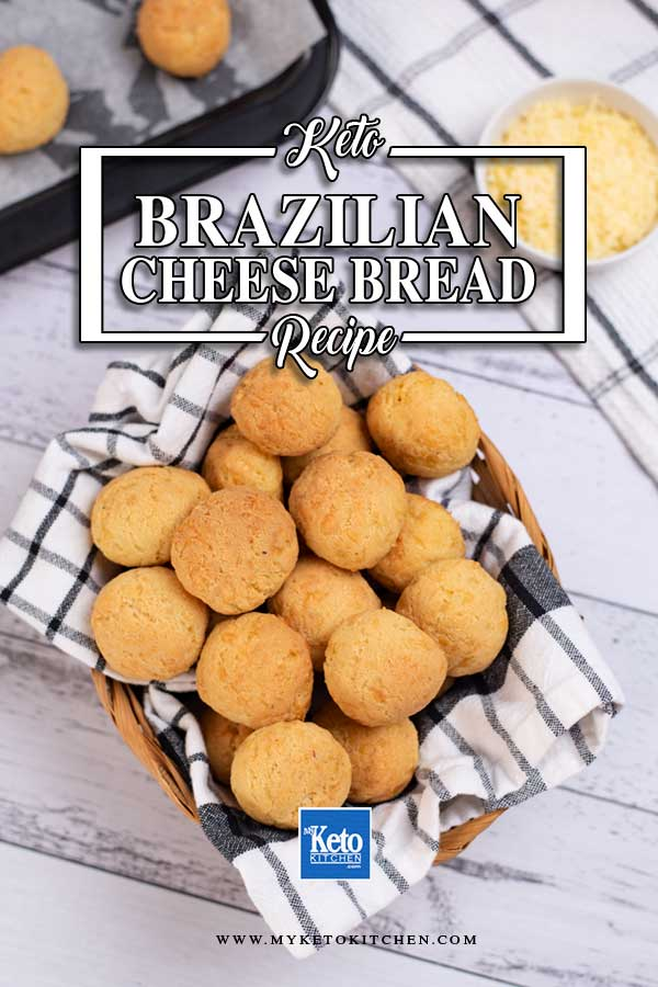 Keto Brazilian Cheese Bread in a basket.