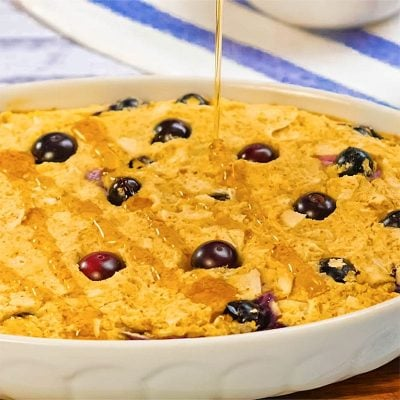 Keto Baked Oatmeal with Blueberry