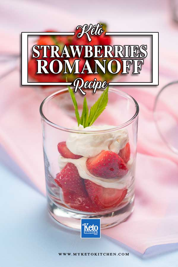 Keto Strawberries and Cream served in glasses.