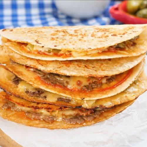 Cheesy keto quesadillas