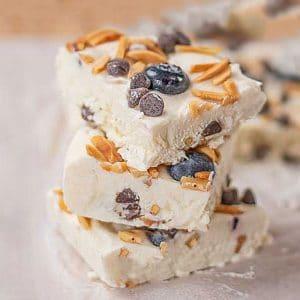 Keto Frozen Yogurt Bars