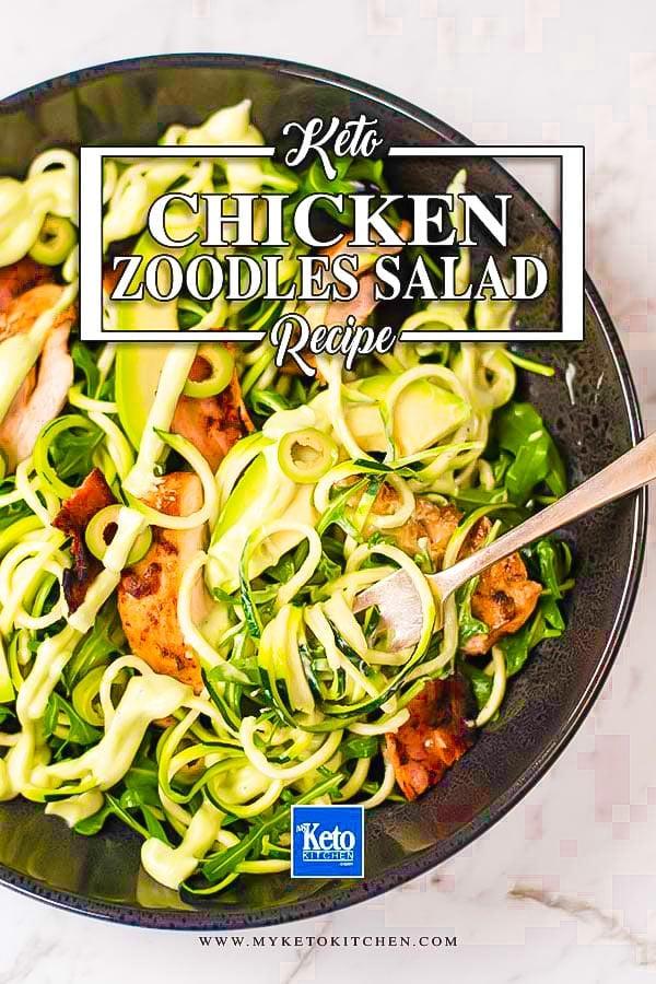 Keto Chicken Zoodles Salad Recipe